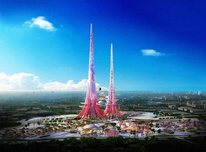 据报道,柬埔寨拟建全球最高双子塔。由柬埔寨泰文隆集团联合香港及澳门两家房产公司组成的经营团队,计划在金边打造500米高的111层双子塔。    6月30日上午,三家公司代表前往市府会见金边市长巴速杰德旺,汇报兴建111层楼高双子塔初步构思。据报道,该公司已完成大楼设计图,项目总投资金约30亿美元,包括兴建周边的基础设施,但尚未确定坐落地点。市长巴速杰德旺在听取汇报后,对这一项目表示支持,并希望该项目能够实现。他说,如果这幢双子塔建成,将成为亚洲最高的建筑。